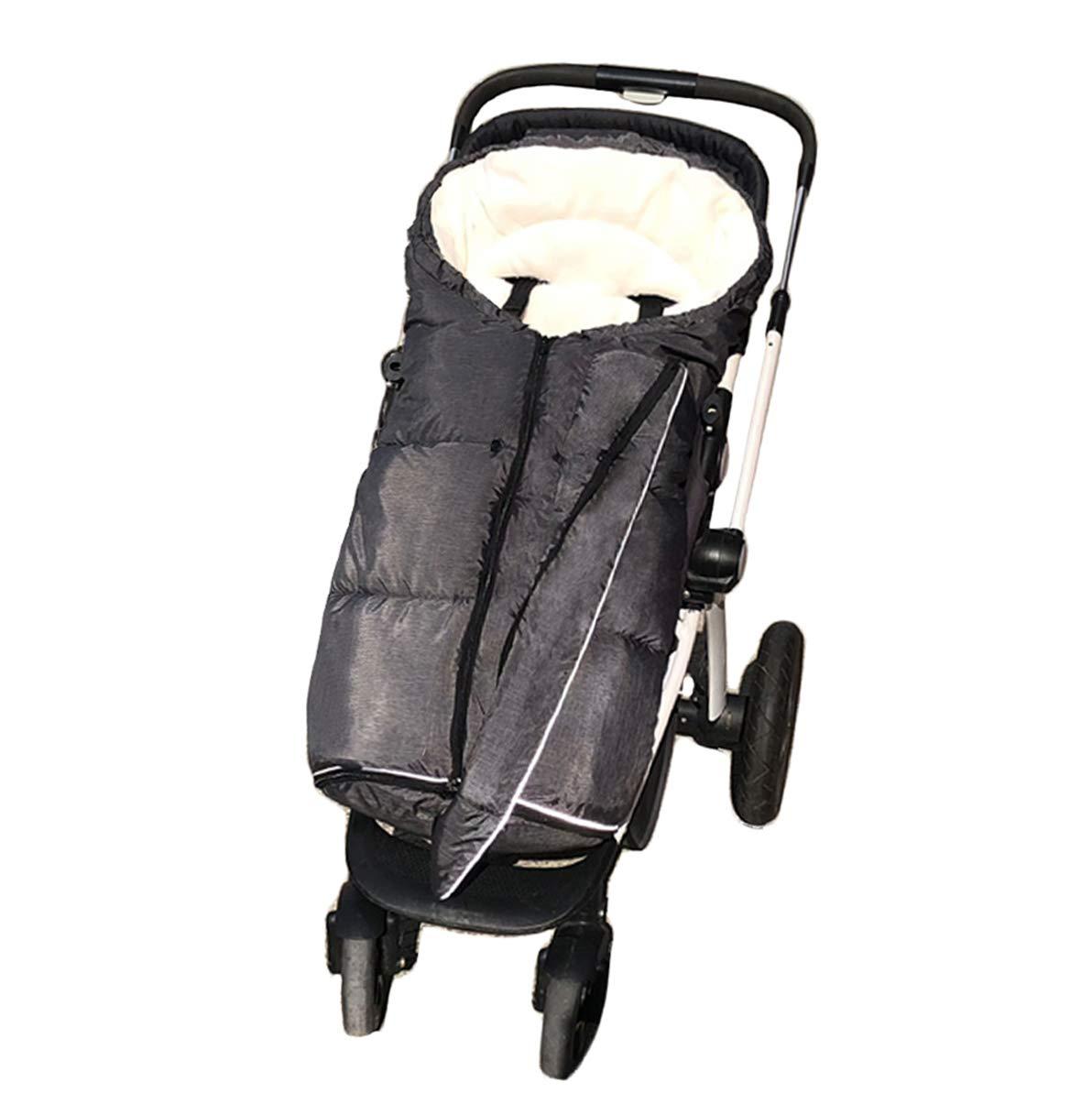 Width Adjustable Universal Stroller Footmuff Designed for Baby Grows,Waterproof High Performace Stroller Bunting Bag,Beige