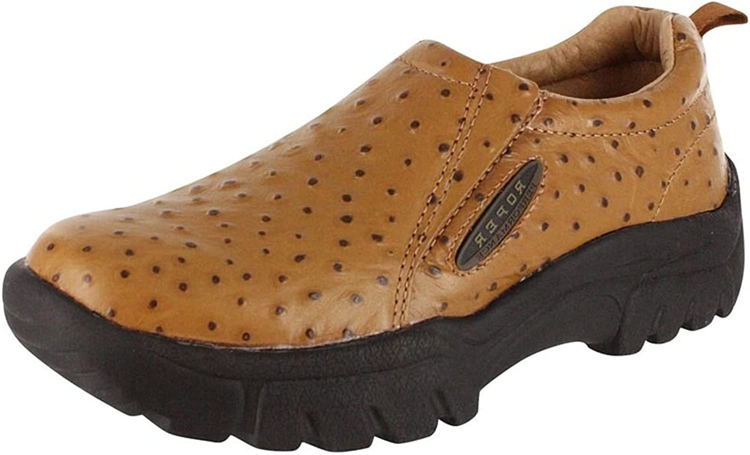ROPER Wide Width Tan Faux Ostrich Leather Mens Slip-on (11 W) 09-020-0601-8350TA
