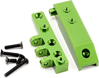 ST Racing Concepts STA80072FG Heavy Duty Aluminum Front Servo Mount Block and Upper Link Mount for The Axial Wraith, Green