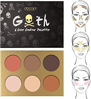 Docolor Contour Palette, 6 Colors Powder Shades Perfectly Cosmetics Contour Set - Highlighting Makeup Kit - Concealer Palette - Light to Dark