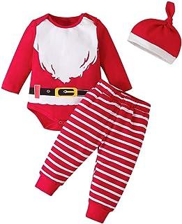 Conjuntos y Conjuntos para niños, recién Nacido, bebés, niños, niñas, Navidad, Manga Larga, Mameluco, Pantalones, Sombrero...