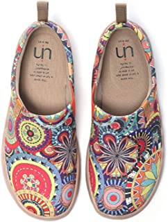 Blossom Women's Men Fashion Tribe Art Sneaker Painted Canvas Slip-On Ladies Travel Shoes Unisex