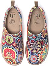 UIN Blossom Women's Men Fashion Tribe Art Sneaker Painted Canvas Slip-On Ladies Travel Shoes Unisex