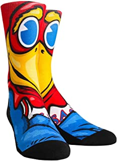 Kansas University KU Jayhawks Custom Athletic Crew Socks