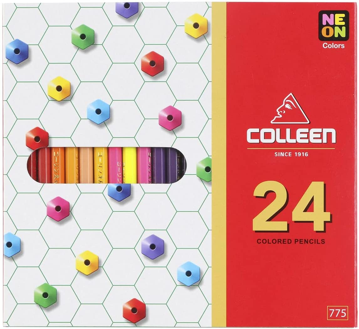Colleen Colored Pencils Hexagon 24 Colors Set Direct sale of manufacturer Max 78% OFF
