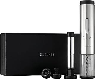 +LOUNGE ワインアクセサリーセット LAS-W203[自動オープナー/ストッパー2個/専用箱]