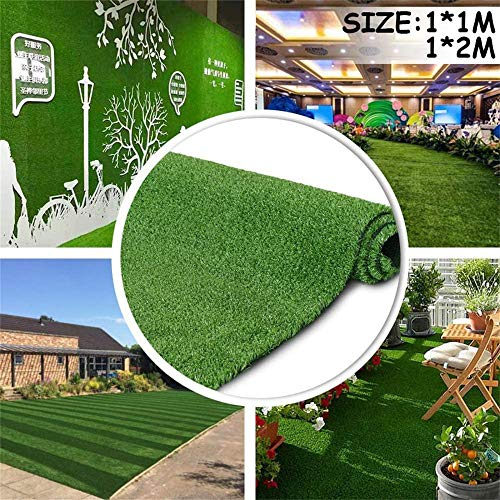 Artificial Grass Turf Lawn ,Economy Indoor Outdoor Synthetic Grass Mat, Backyard Patio Garden Balcony Rug,Thick Synthetic Fake Grass Dog Pet Turf Mat (3.3x6.6feet)