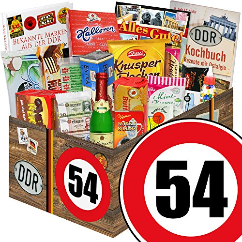 Ostalgieset / Zahl 54 / Geschenk Mann / Geschenk Süß