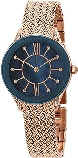 Anne Klein Crystal Ladies Rose Gold-Tone Mesh Watch 2208NMRG