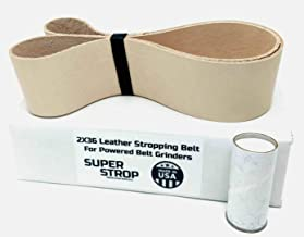 2 X 36 inch Super Strop Leather Honing Strop Belt fits 2X36 and 4X36 Belt Sanders