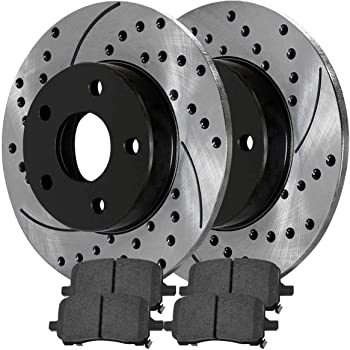 OE Series Rotors + Metallic Pads TA061041 Fits: 2008 08 2009 09 2010 10 2011 11 2012 12 Ford Escape w//Steel Piston Max Brakes Front Premium Brake Kit