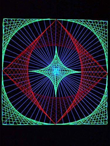 PSYWORK - Guirnalda de luces (90 cm), color rojo