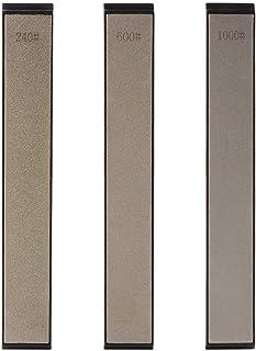 3pcs 240#/600#/1000# Grit Conjunto de Piedras Afiladas Professional Grano Diamond Sharpener Afilador de Cuchillos de Cocina Set de Piedra
