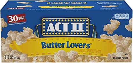 Act II Butter Lovers Microwave Popcorn (3oz., 30 bags) (Pack of 2)
