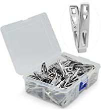 VIPbuy 60 PCS Strong Stainless Steel Clothes Pins Metal Laundry Pegs with Storage Box for Clothes Sock Food Sealing Photos