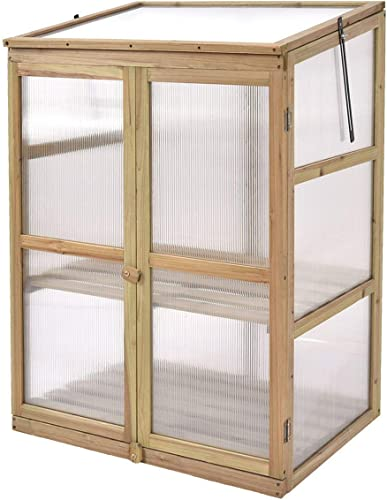 """lowest Giantex Garden Portable high quality Wooden Cold Frame Greenhouse Raised Flower Planter Protection outlet online sale (30.0""""X22.4""""X42.9"""") outlet online sale"""