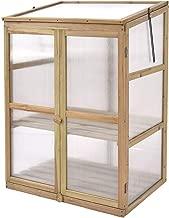 Giantex Garden Portable Wooden Cold Frame Greenhouse Raised Flower Planter Protection (30.0