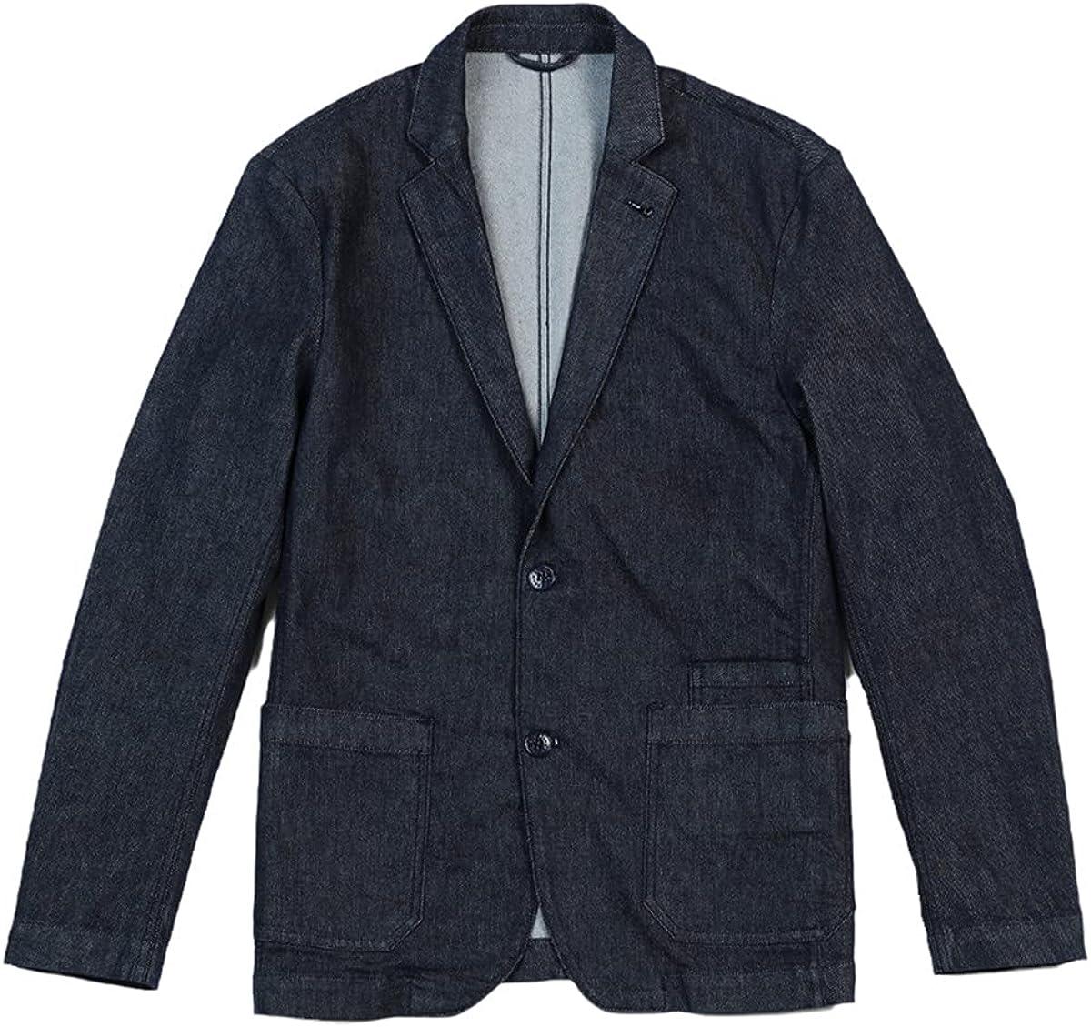 DFLYHLH Fall Casual Denim Suit Jacket Men's Slim Jacket Plus Size Jacket