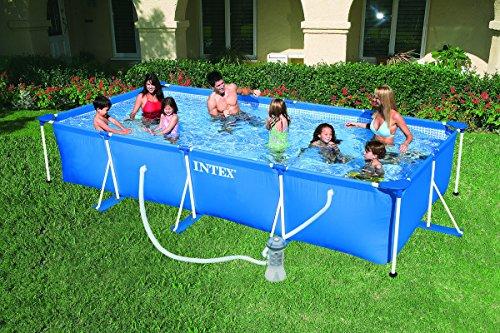 Intex 28274 Piscina Rettangolare, con Pompa Filtro, 450 x 220 x 84 cm, 2282 litri