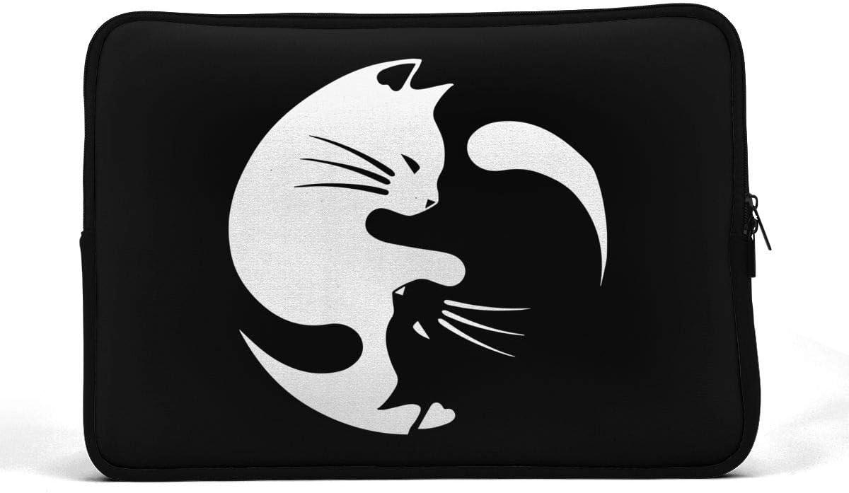 Yin Yang Cats Sleeve Laptop Bag Tablet Case Handbag Notebook Messenger Bag for Ipad Air MacBook Pro Computer Ultrabook 13-15 Inches