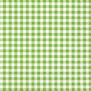 20 servetten Karo groen/geruit / tijdloos 33x33cm