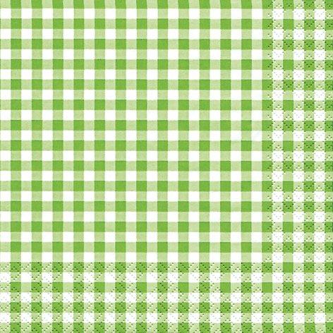 20 servilletas de papel de cuadros de colour verde // y atemporal 33 x