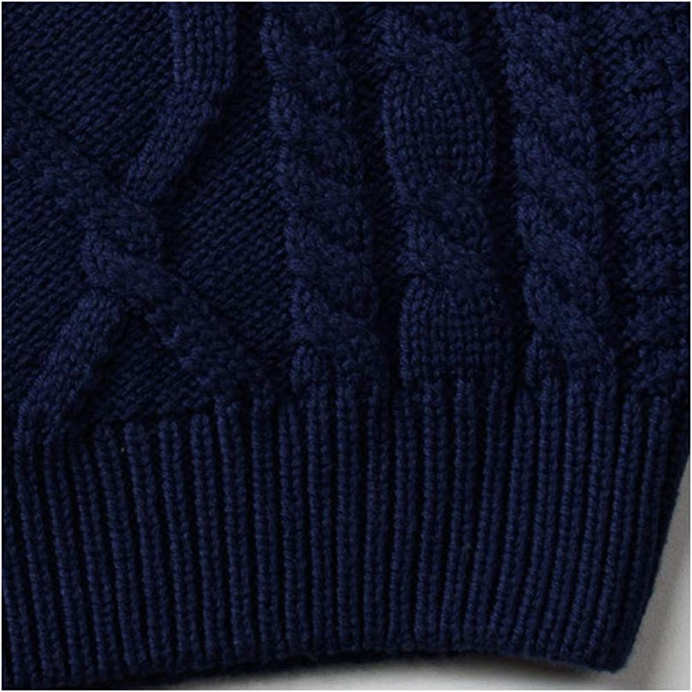 OCHENTA Unisex Kids Pullover Cable Kitted Twist Thick Sweater