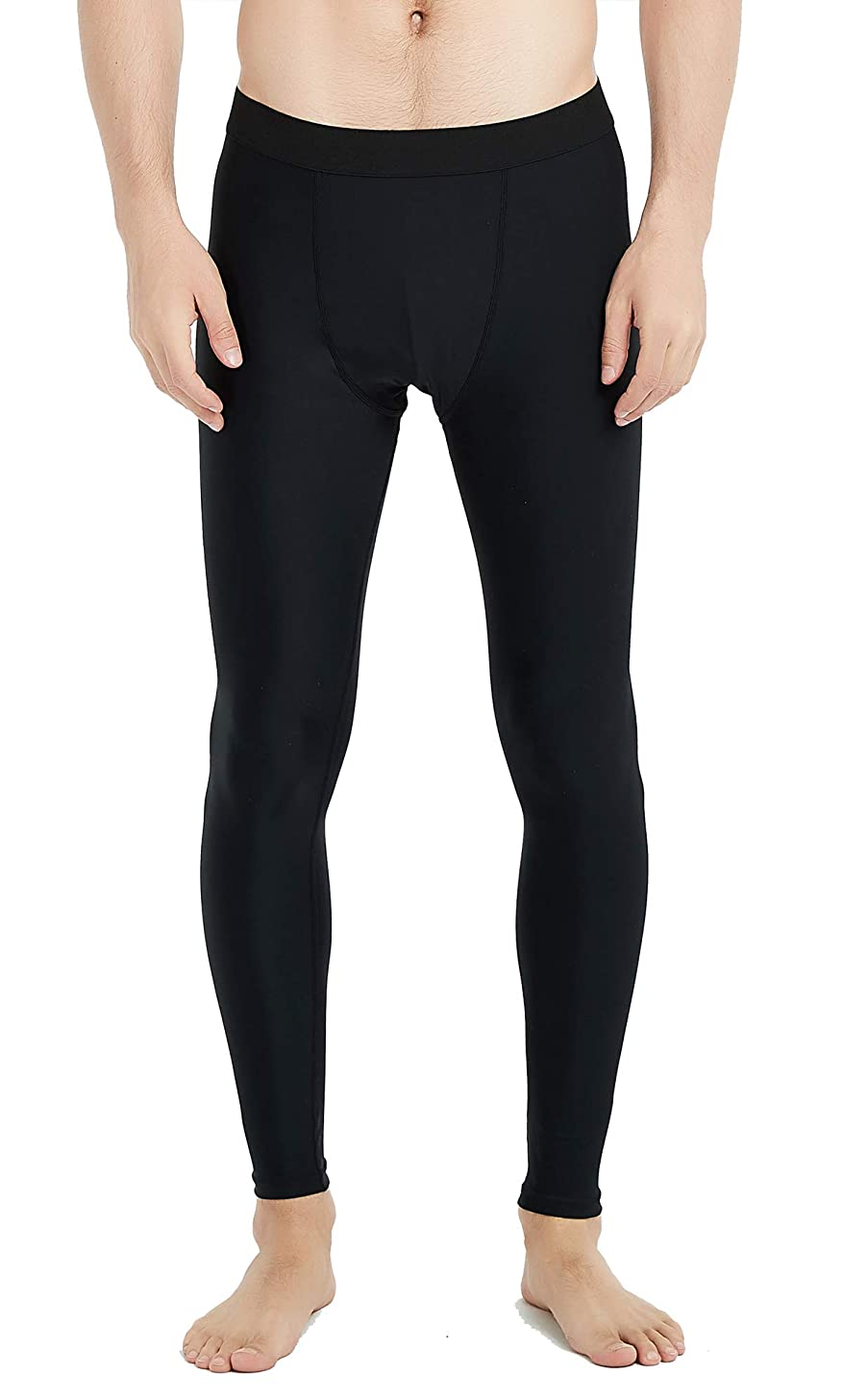 UPF 50+ Men's Surfing Leggings Sun Protection High-Waist Tummy Control Swimming Pants