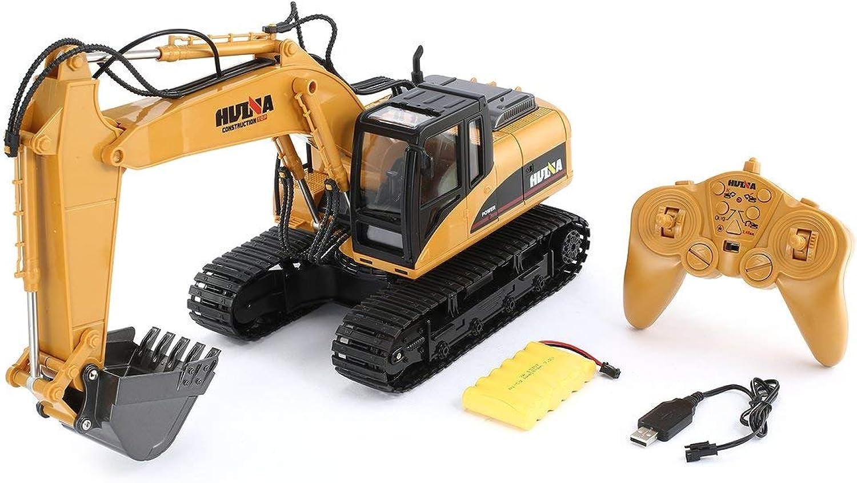 ForceSthrength HUINA 1550 1 14 2,4G 15CH RC Alloy Bagger Truck Baufahrzeug Spielzeug