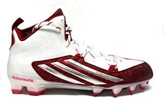 adidas Men's Crazyquick 2.0 Mid Football Cleats (12.5, White/Platinum/Unired)