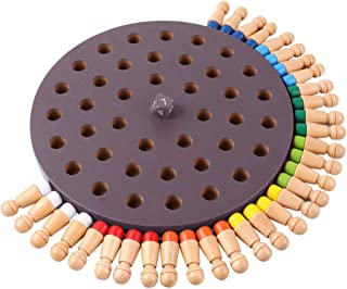 Checker Set Kids Party Game Wooden Memory Match Stick Board Chess Game Early Educational Learning 3D Puzzle Toy for Childr...