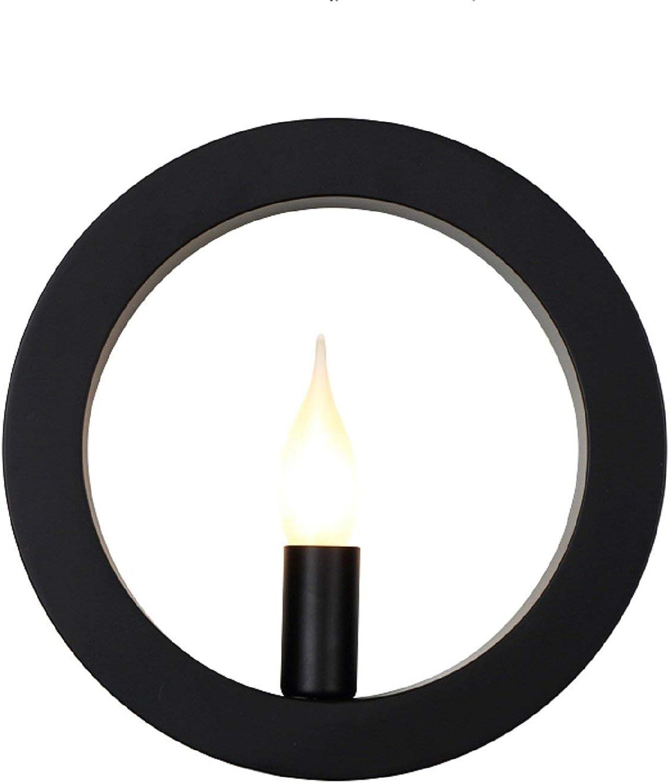 Nordische Wandlampen-kreisfrmige kreative Persnlichkeits-Wand-Lampe mit modernen Schlafzimmern Schmiedeeisen Lampen und Laternen starteten Art- und Weiseaufenthaltsraum-Rückseiten-Tropfen-schwarzberry