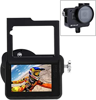 XIEWEI Insurance Frame with Housing Shell CNC Aluminum Alloy Protective Cage & 52mm UV Lens for GoPro Hero(2018) /7 Black /6/5(Black) (Color : Black)