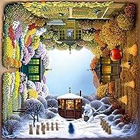 フォーシーズンズガーデンパズルジグソーパズルゲームを回転させ、500 PCSパズルゲーム子供の組み立て大人のジグソーパズル子供の教育学習木製知能ジグソーパズル解凍漫画アニメーション、サイズ:500枚、カラー:A (Color : A, Size : 500pcs)