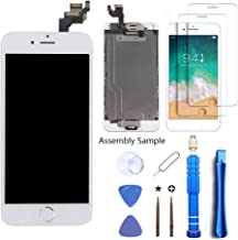 SZFIXEZ for iPhone 6 Plus Screen Replacement with Home Button and Camera, LCD Display Touch Screen Digitizer Full Assembly, Advanced Repair Tools Set, 2-Pack Glass Screen Protector (6Plus 5.5