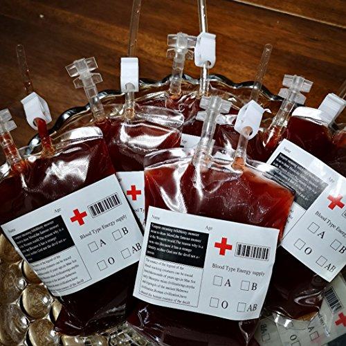 Fansport Blutbeutel-wiederverwendbarer Langer Schlauch-Saft-Energie-Getränk-Beutel-Getränk-Behälter-Beutel-Partei-Bevorzugung für Halloween