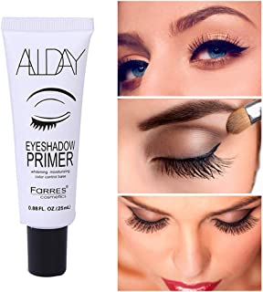 Eyeshadow Primer, Hamkaw Makeup Primer, Hydrating Face Primer, Moisturizing Nourishing Skin Isolating Eye Shadow Face Makeup, Prevent Oily Lids and Creasing (Clear)