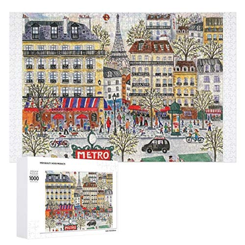 Yohoba Jigsaw Puzzle 1000 Piece Michael Storrings Paris Large Puzzle Game Artwork for Adults Teens for Educational Gift Home Decor (20x30inch)