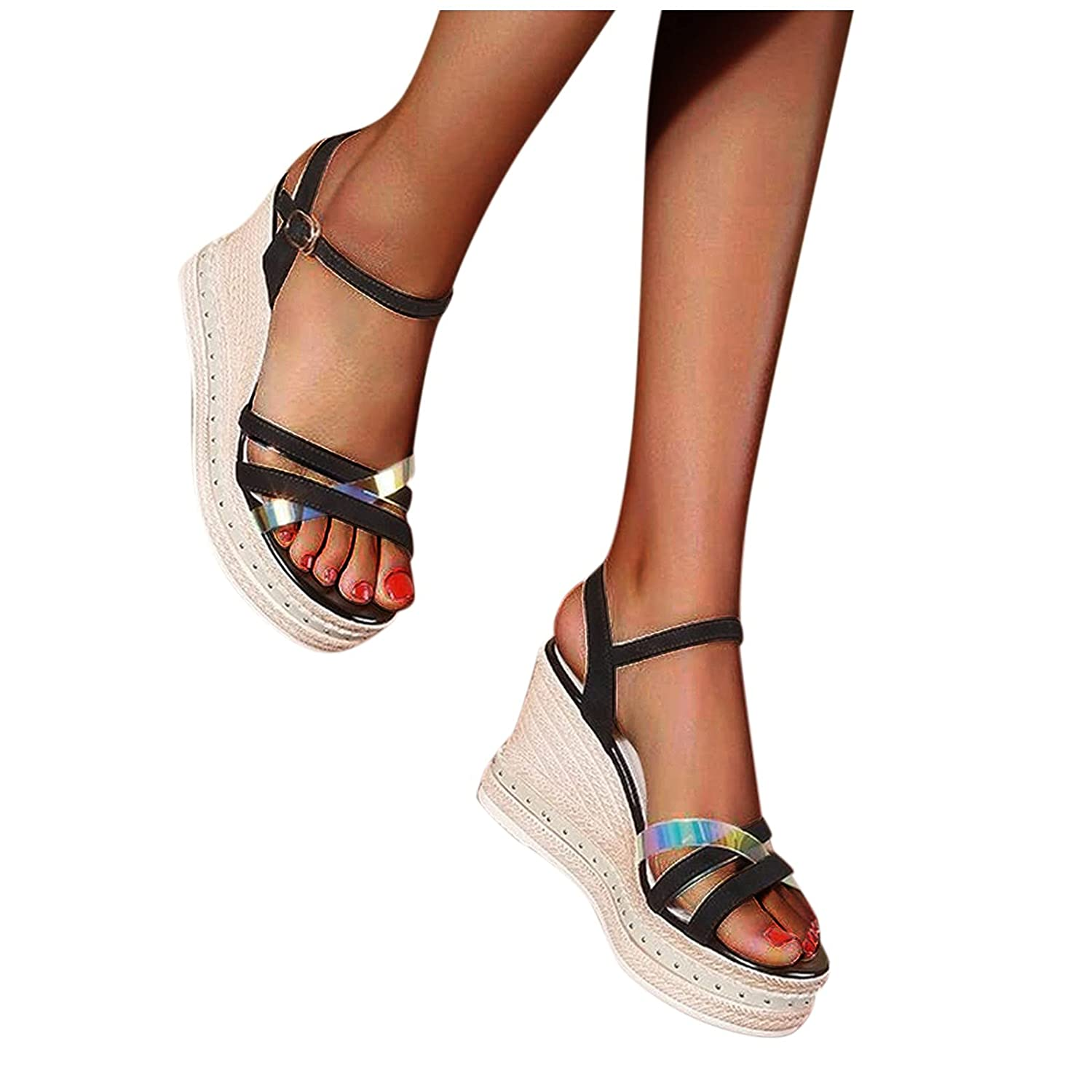 Reokoou Summer Wedge Discount mail order Sandals for Women Dress San Casual Open All items free shipping Toe