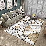 La alfombras habitacion Juvenil Completa Sala de Estar Lavable Suave con Motivos de mármol Gris Amarillo Alfombra Alfombra Chimenea Alfombra Infantil 180*250cm