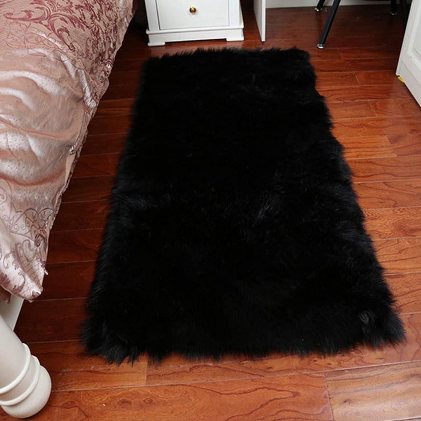 バリケードブレーク法律によりカーペット 北欧風 洗える 防音 長方形 23色選べる 滑り止め付き 寝室 床暖房 冷房対応 ラグ 夏用 抗菌 消臭 室内 ブラック リビング用 70*180 ラグ ラグマット ホットカーペットカバー対応 カーペット
