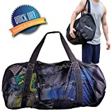 Athletico Mesh Dive Duffel Bag for Scuba or Snorkeling - XL Mesh Travel Duffle...