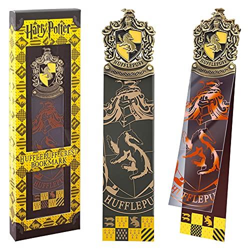 The Noble Collection Segnalibro con Stemma di Tassorosso Prodotto Segnalibro Harry Potter con Stemma in Metallo Smaltato A Mano - Regali Harry Potter con Licenza Ufficiale