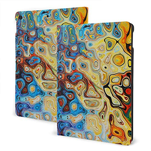 Abstract Structure Color IPad 7th 10.2' Slim Lightweight Smart Shell Stand Cover Case for iPad 7 (10.2-Inch, 7th Generation,Auto Wake/Sleep)