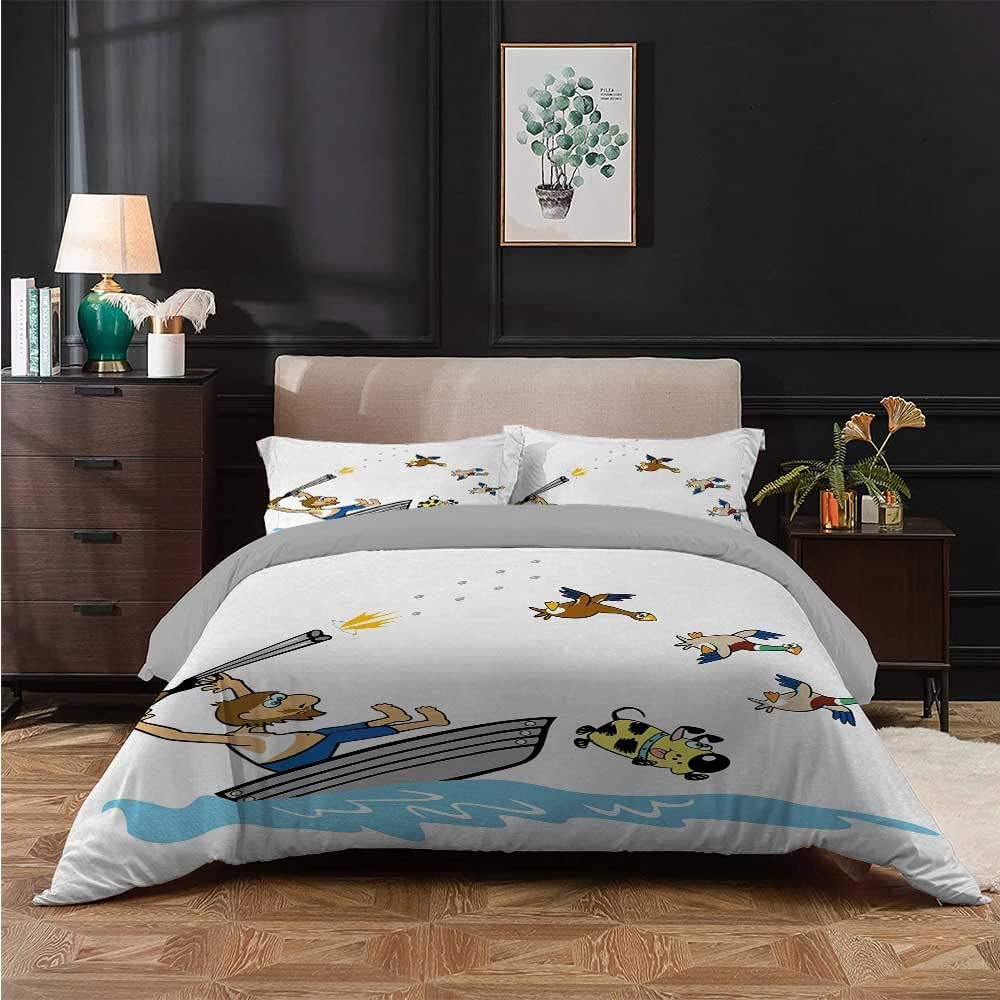 safety Kids' Quilt Set Boating Aged Man Shooting Wild Free shipping New Funny Ducks D and