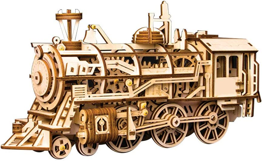 Shipenophy Ranking TOP2 Fantastic Educational Toy Locomotive Bargain sale Puzzle Wooden 3D