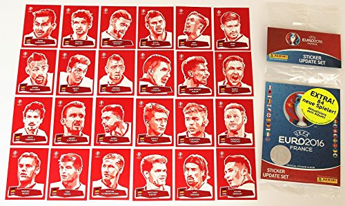 Panini EURO 2016 - Set 24 Sticker Coca Cola + 84 Updates
