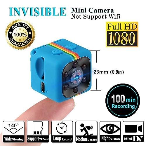 SQ11 1080P Mini Caméra, Caméra Web Portable HD Nanny ( Vision Nocturne, FOV140, 1080P, Caméra Miniature ) Caméras Cachées Mini Enregistreur Vidéo Sport DV par LITEBEE