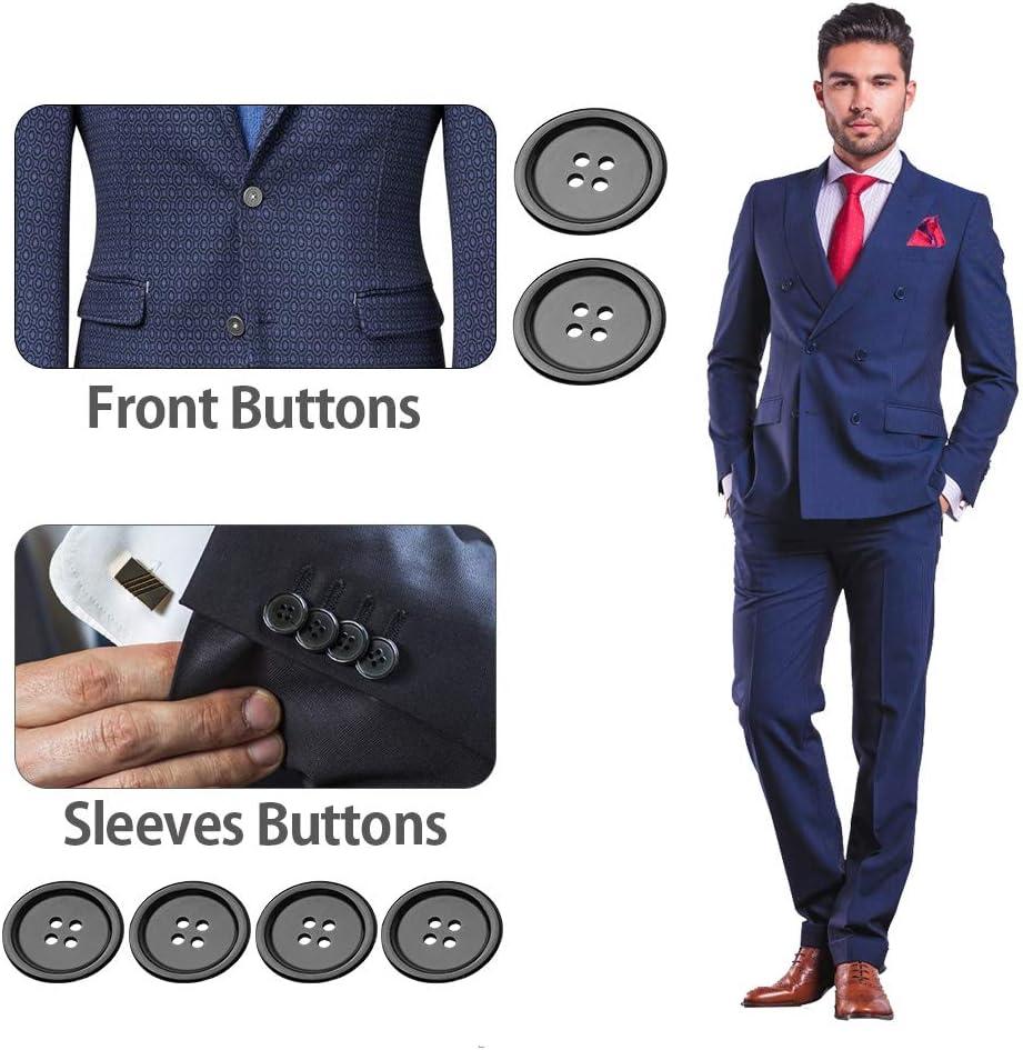 Bottons - Botones de resina para camisa de cuatro ojos (borde ancho y ancho, 300 unidades)