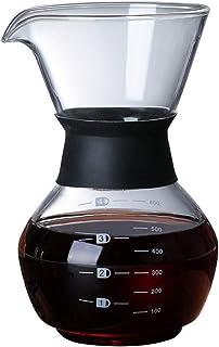 WEIXIAO WLKH Pot de café Manuel Manuel résistant à la Chaleur Pot de cafetière réutilisable (Couleur : 600ML No Filter)